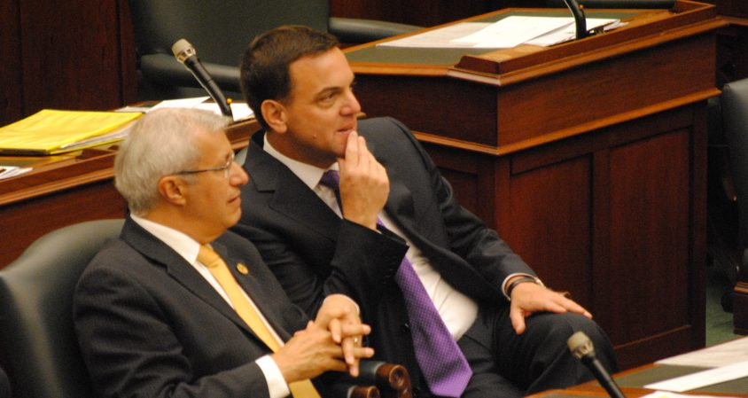 Tim Hudak makes return to the house following defeats