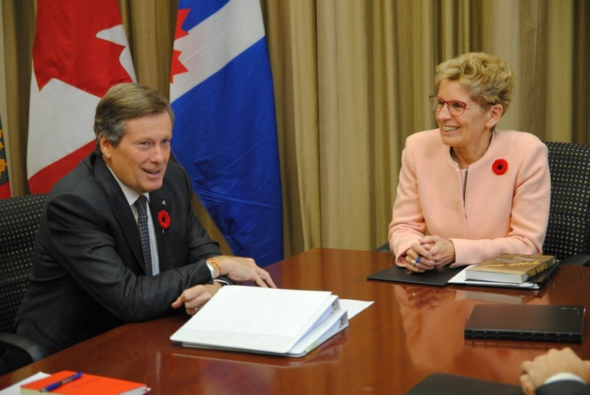 Wynne and Tory's relationship undergoing trial by 'fire'