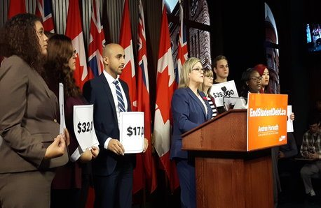 Horwath says Liberals' 'not-free' tuition plan no cure for student debt