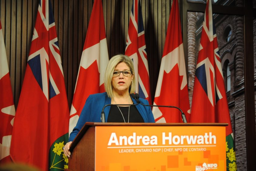Andrea Horwath teases hydro relief platform ahead of spring sitting