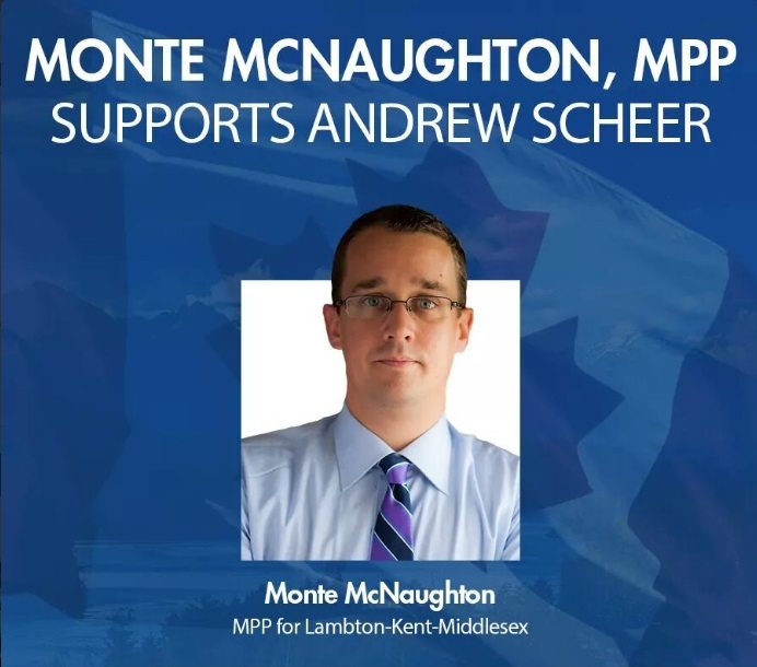 'A lot of his views line up with mine': McNaughton backs Scheer for federal Tory leader