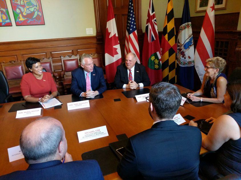 Governors visit Ontario legislature, criticize bluster, rhetoric and distractions of Washington during trade talks