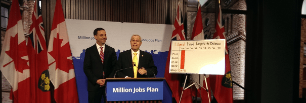 Hudak and Fedeli slam Liberals' deficit plan