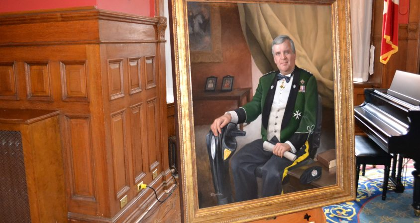 Seen: The lieutenant-governor of Ontario (in painted form)