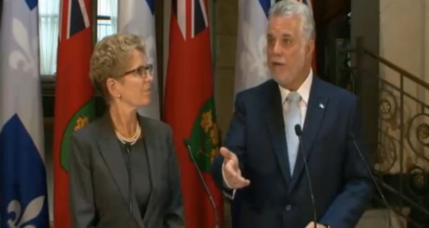 Wynne, Couillard talk hydro purchases and joint cabinet meetings