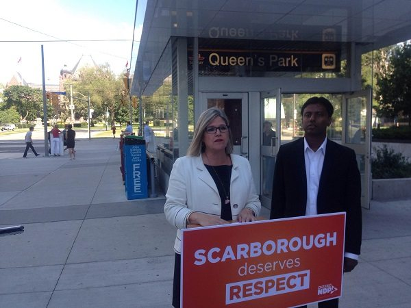 Heard: Two-hour transit trek from Scarborough-Rouge River to Queen's Park too long for NDP