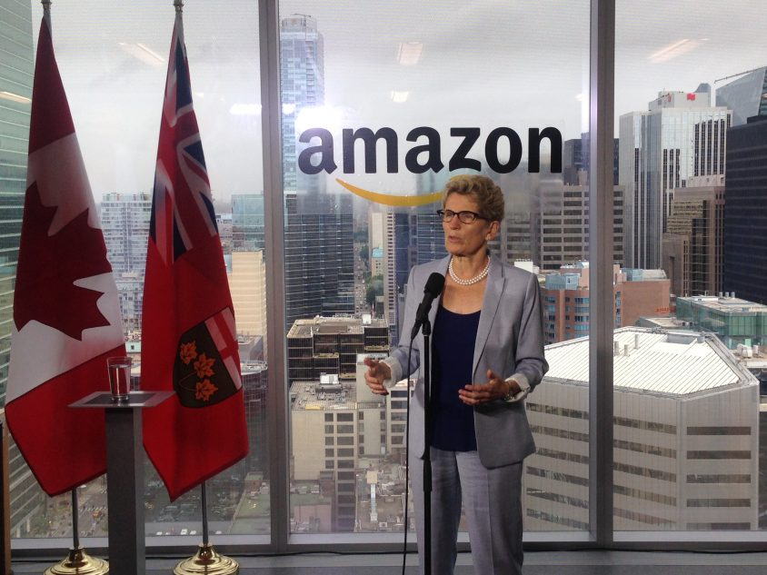 Ontario should 'embrace' Amazon expansion north of the border: Wynne
