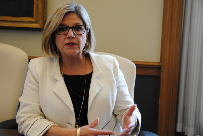 Happening: Horwath embarks on mini health-care tour in the dog days of summer