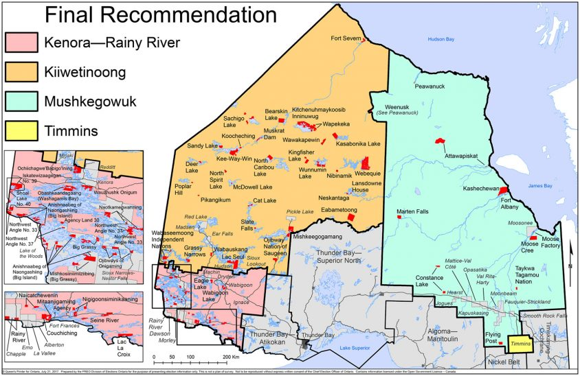 Government planning to create two new northern ridings