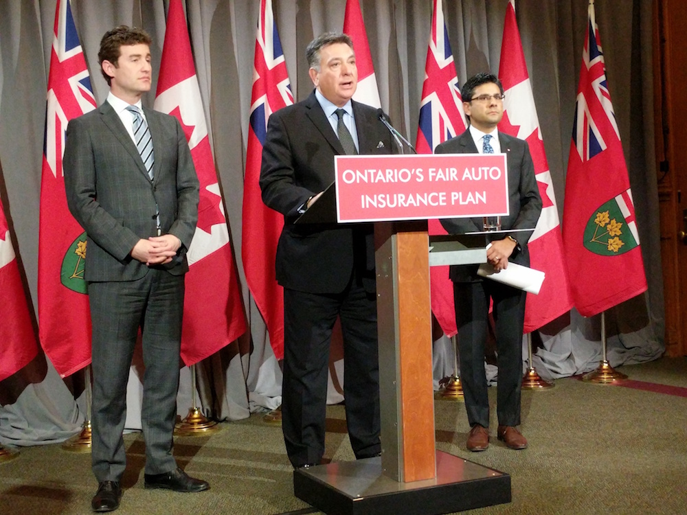 Liberal government unveils Ontario Fair Auto Insurance Plan