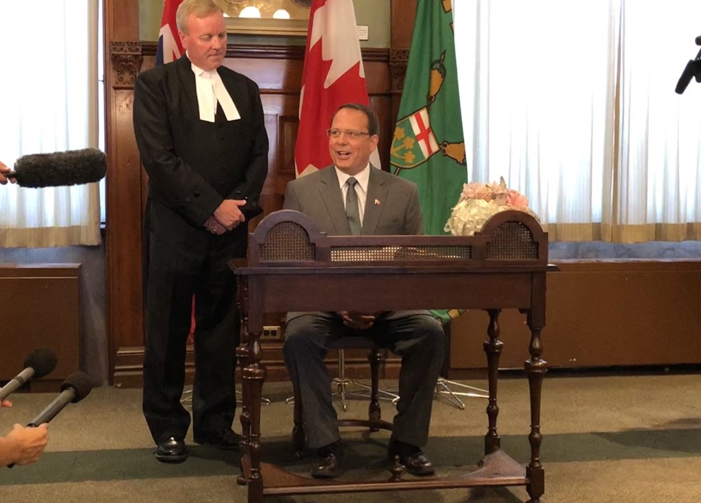 """A newly sworn-in Mike Schreiner calls Ford """"reckless"""" on climate change"""
