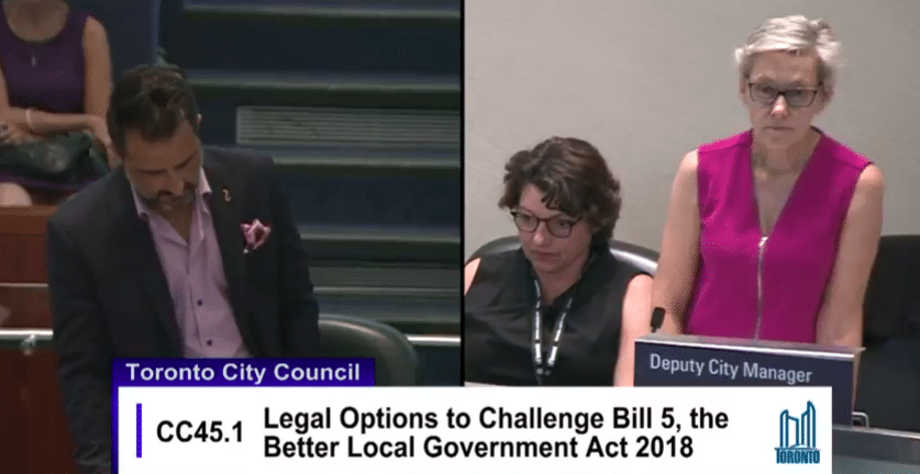 Toronto city council approves legal challenge of Better Local Government Act