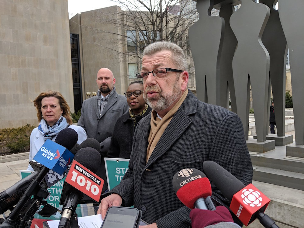 Premier's 'hot air' in focus on first day of sex-ed court hearing