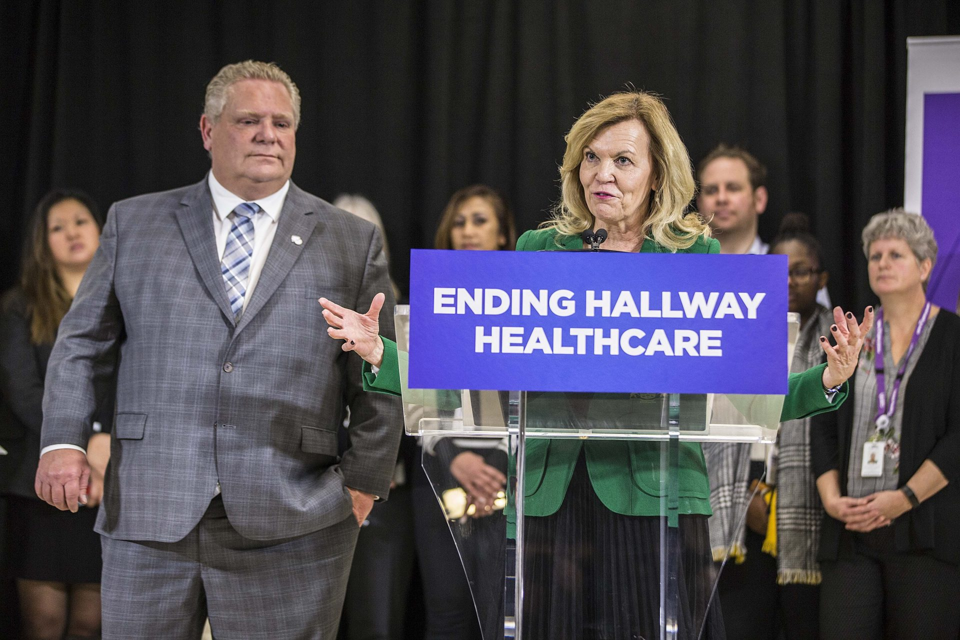 'It may take a little bit longer': Elliott walks back Ford promise to end hallway health-care in a year