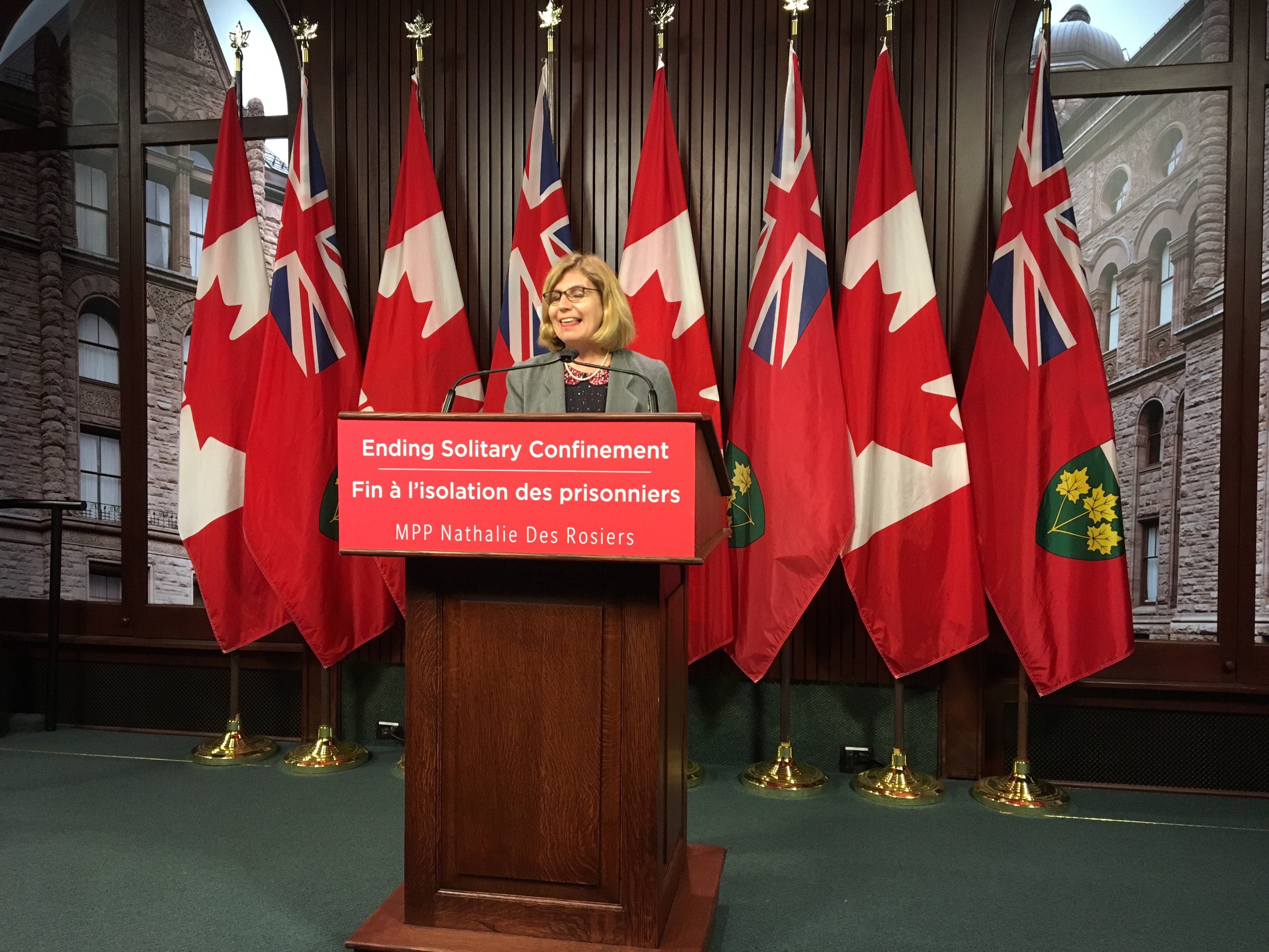 Des Rosiers wants to see five-year phase-out of solitary confinement, but PC government says this is not the solution