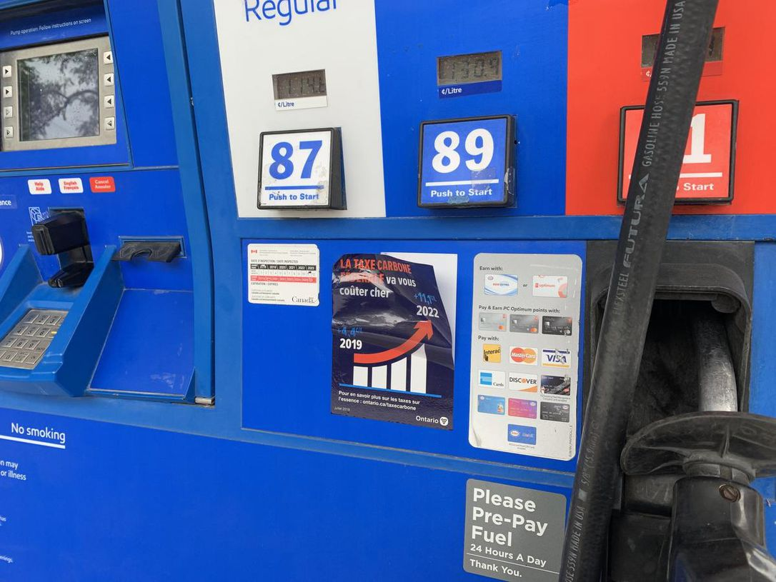 Court strikes down Ford government's mandatory gas pump sticker law
