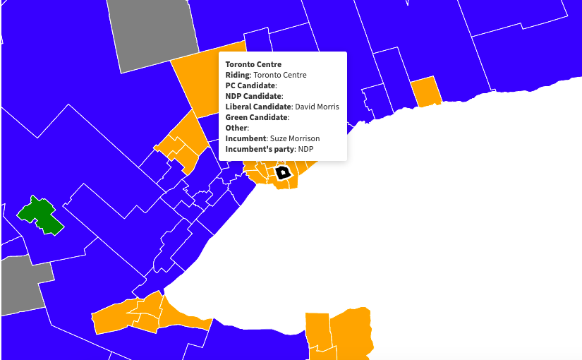 2022 Ontario provincial election: candidate map and list