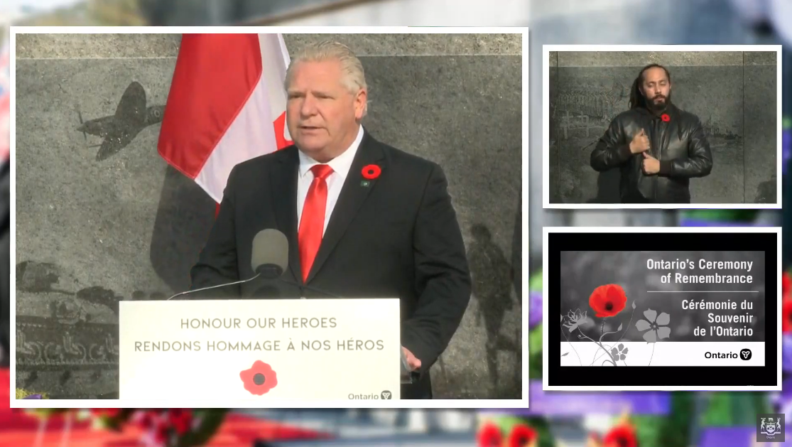 Leaders gather at Queen's Park for Remembrance Day under 'strange and uncertain circumstances'