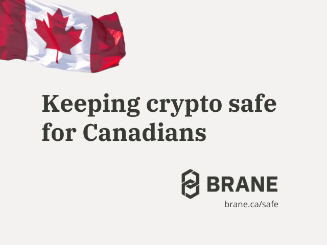 Sponsored Content: Independent, sustainable, Canadian — Brane offers a better way to keep crypto safe