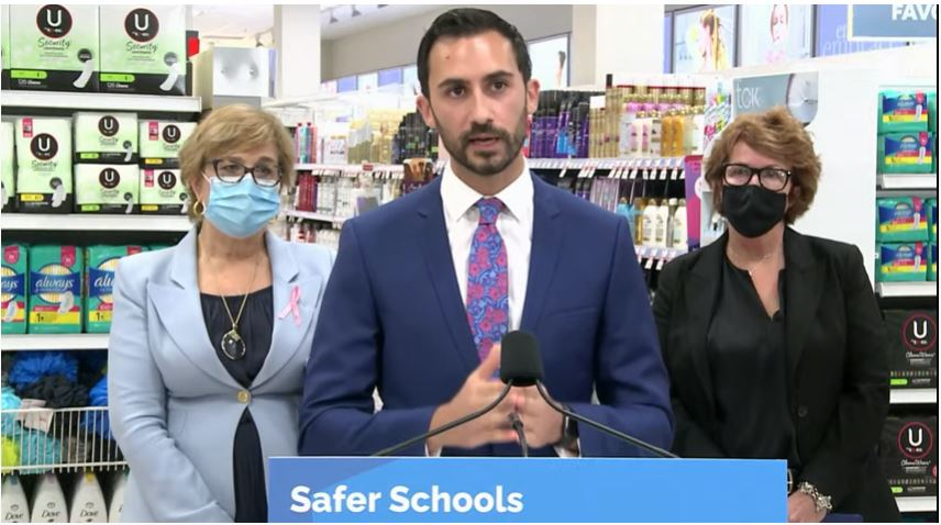 Provincial partnership with Shoppers Drug Mart to provide Ontario students with free menstrual products