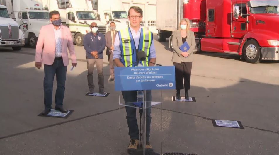 Government to ensure washroom access for truck drivers and delivery workers through legislation